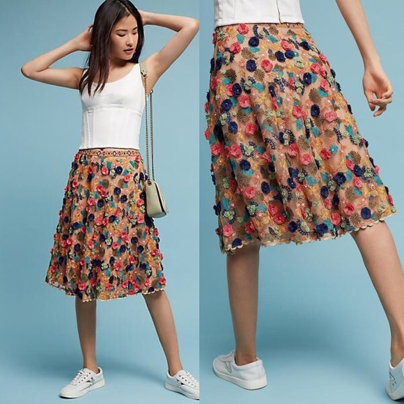 226d8434306a8 Anthropologie Dresses & Skirts - Anthro Bhanuni by Jyoti Embellished Tulle  Skirt